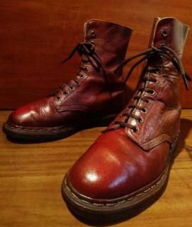 【USED】Dr.Martens/ドクターマーチン 10ホールブーツ SIZE:UK9 27.5-28cm ラメ・チェリーブラウン