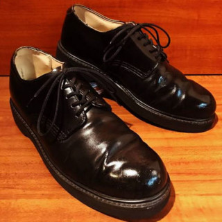 """【USED】UNKNOWN """"PT83"""" スチールトゥ プレーントゥ SIZE:71/2D 25.5cm BLK"""