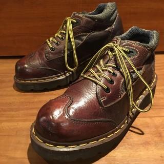 【Ladys/英国製】Ladys Dr.Martens / ドクターマーチン ウイングチップブーツ UK 4 23cm相応 BRN