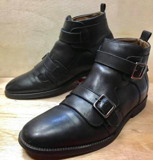 【美品】KURT GEIGER / カートジェイガー ダブルモンク デザインブーツ SIZE 41 26cm相応 BLK