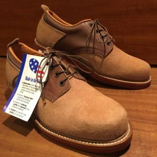 【未使用】USA製 Giant Shoe スエード プレーントゥ US 9 D 27cm相応 BRN