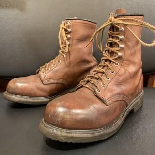 【USED】 PT91/REDWING レッドウィング 2233 スチールトゥ 編み上げ ブーツ size 6EEE/24.5cm 相応 ブラウン 茶 90s