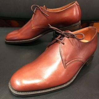 【DEAD】英国製 60s 70s K Shoes / ケーシューズ 2eye プレーントゥ UK 5.5 FIT4 24.5cm相応 BRN