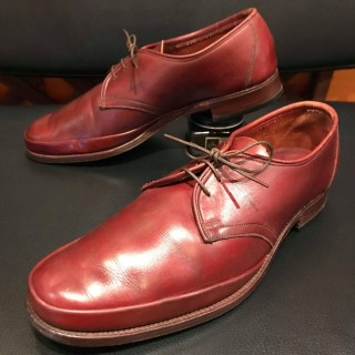 【VINTAGE/50s】Autographed by N.baseati デザインUチップ size 25-25.5cm相応 R.BRN
